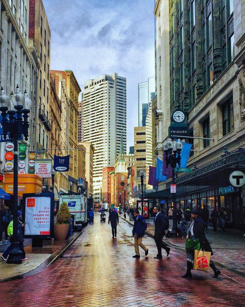 Boston walkable city