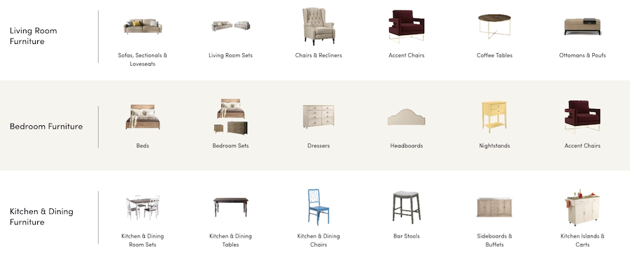 Wayfair is our recommended furniture store in Boston